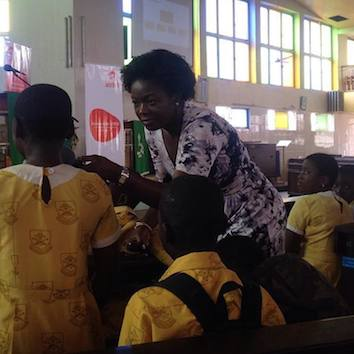Lucy Quist asks students about their aspirations