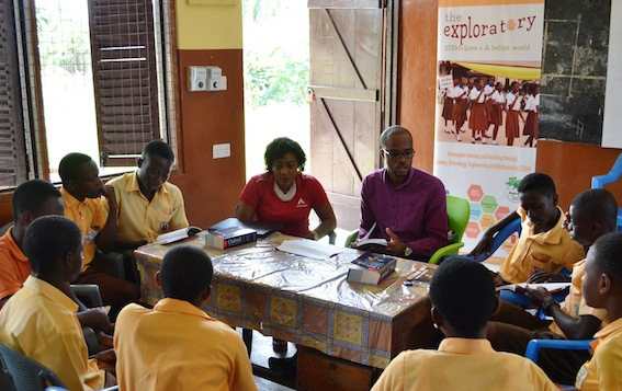 ATC Ghana volunteers reads with students