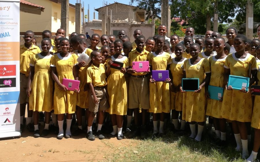 Students receive digital resource from Australian High Commission Ghana