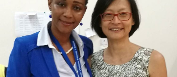 Deputy Education Minister Barbara Ayisi with The Exploratory's Founder, Dr. Connie Chow