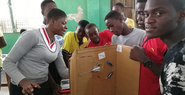 Group working on door design for security design challenge